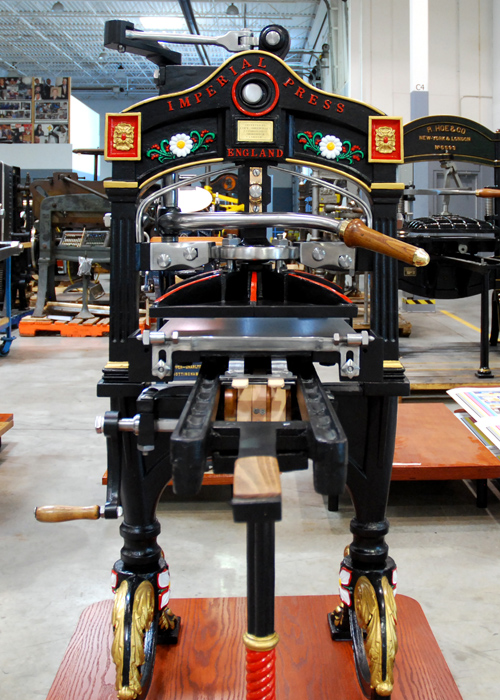 Welcome to howard iron works antique printers and for Imperial printing